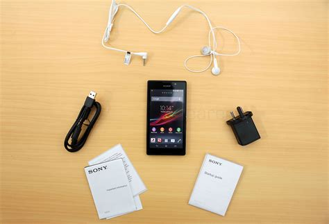 Headset Sony Xperia C3 sony xperia c unboxing
