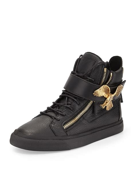 giuseppe zanotti mens sneakers giuseppe zanotti mens leather hightop sneaker with eagle