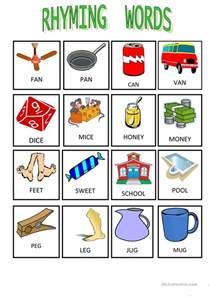 33 free esl rhyming worksheets