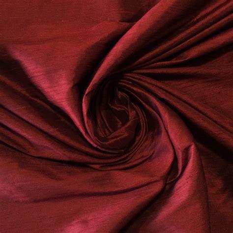 silk drapery fabric silk shw07 crimson red exotic hand woven dupioni 100 silk