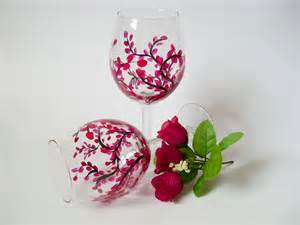 Heart and home new hand painted wine glasses