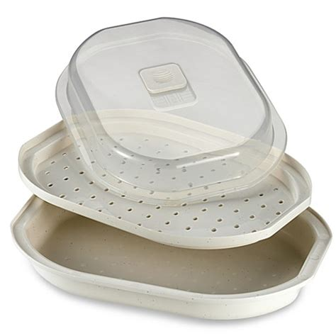 bed bath and beyond food steamer salt meals in minutes microwave fish and vegetable