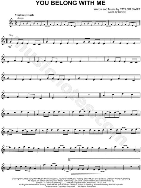 Taylor Swift White Horse Guitar Chords