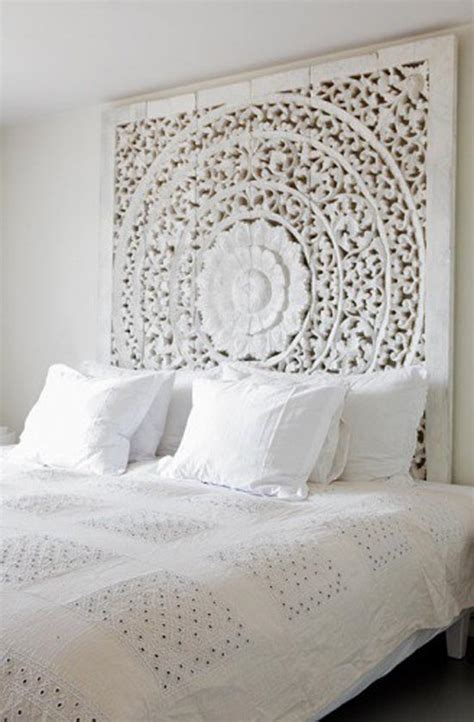 statement headboards living with winter white our empty nest