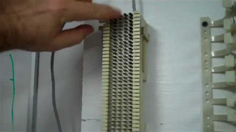 punching   pair cable   block youtube