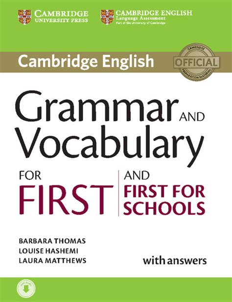 0007499663 vocabulary and grammar for the grammar and vocabulary for first and first for schools