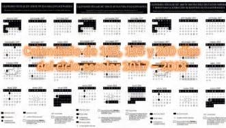 Calendario 2018 Sep Calendario De 185 195 Y 200 D 237 As Ciclo Escolar 2017