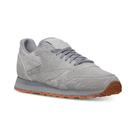 reebok classic sneakers reebok s classic leather embossed casual sneakers from