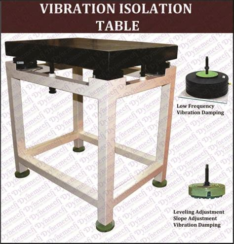 pneumatic mounted vibration isolation table series dit