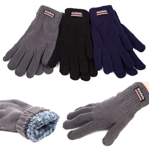 10 Warm Winter Accessories by New Unisex Insulated Gloves Knit Winter Gloves Thermal