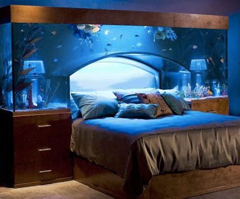 bed aquarium headboard benefits of a fish tank and the science feng shui behind it