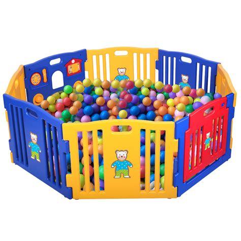 play pen new childrens baby playpen kids 8 panel safety play center yard home indoor outdoor pen new ebay