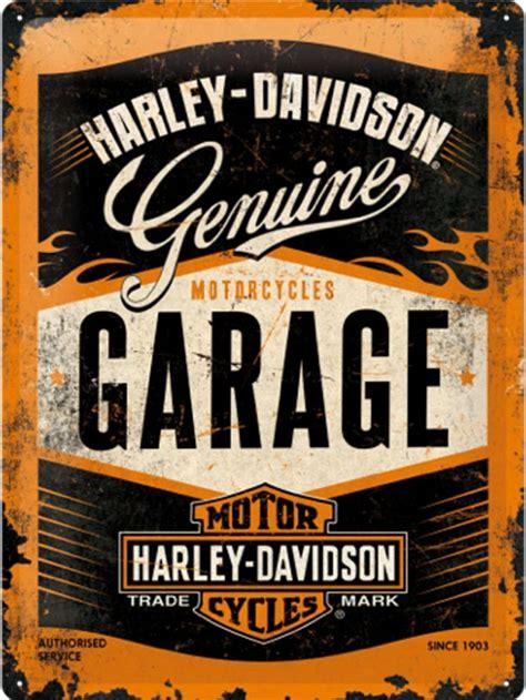 harley davidson garage  metal wall sign