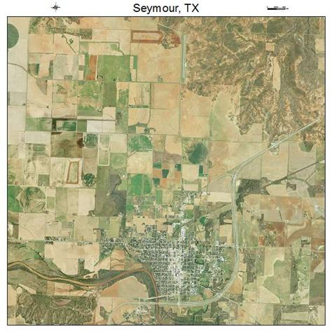 seymour texas map aerial photography map of seymour tx texas