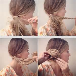 hairstyles how to do a side bun collections