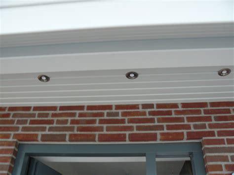 beleuchtung dach berstand drei ledspots im eingangsbereich au en led beleuchtung