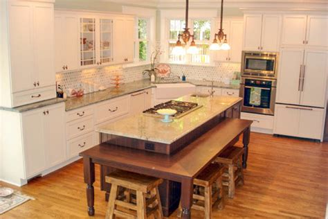 kitchen islands with table seating staggered height countertop heights and overhangs kitchen design tips