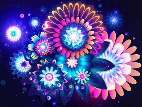 abstract digital flowers art wallpaper abstract graphic wallpaper   cool backgrounds