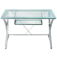 Office Depot Glass Computer Desk Office Furniture Metal Desks Glass Desks Office Depot Officemax