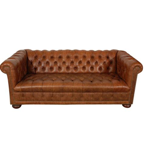 Distressed Leather Sectional Sofa 1960 S Leather Chesterfield Sofa In Distressed Leather