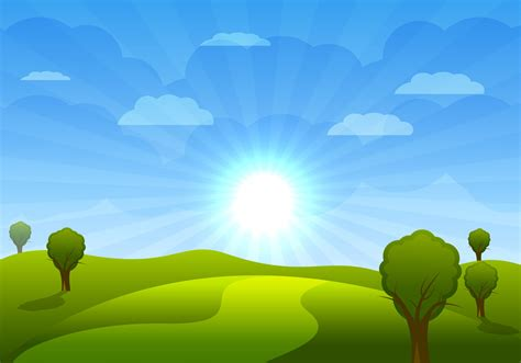 wallpaper cartoon landscape beautiful cartoon landscape with trees and clouds vector
