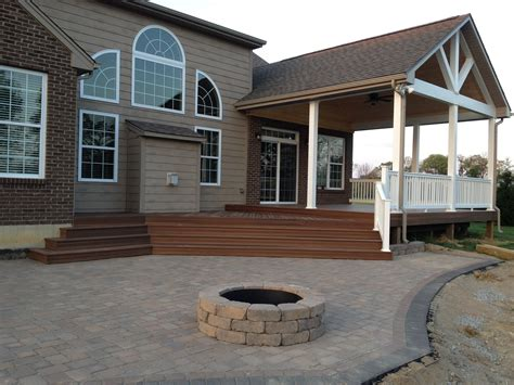 porch patio deck dayton deck and patio combinations dayton cincinnati