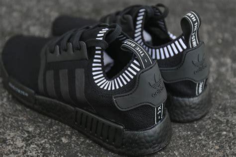 adidas nmd  primeknit triple black sneaker bar detroit
