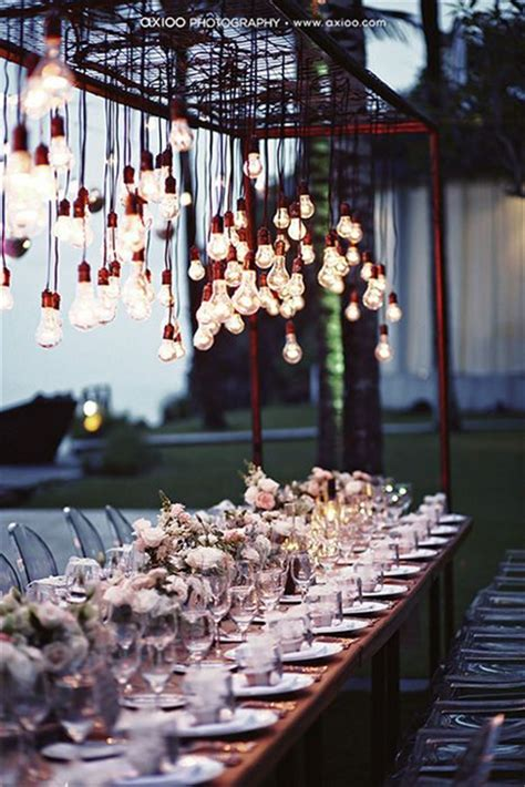 stunning rustic edison bulbs wedding decor ideas deer
