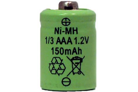 16 X 1 3 Aaa Nimh 150 Mah Button Top Batteries Aaa Solar Light Batteries