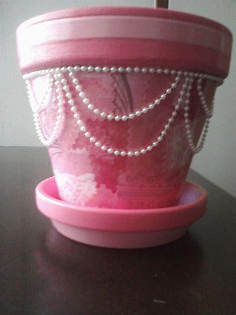 Decoupage Clay Pots Ideas - pretty in pink decoupage flower pot terra cotta flower