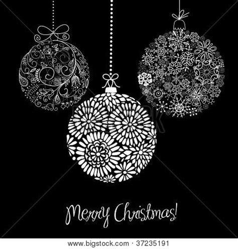 imagenes en blanco y negro navidad vectores y fotos en stock de adornos de navidad de blanco