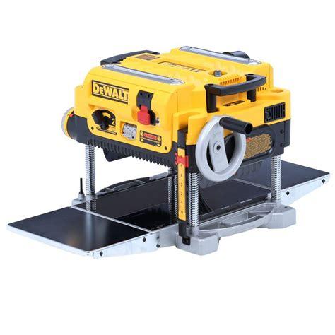 dewalt bench planer dewalt 15 amp 13 in heavy duty 2 speed thickness planer