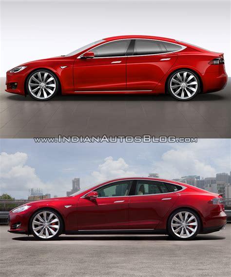 Tesla Vs Tesla Model S Vs New Side Profile Indian Autos