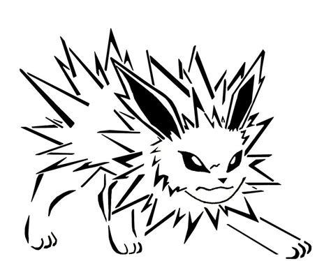 Pokemon Coloring Pages Jolteon | free coloring pages of n jolteon