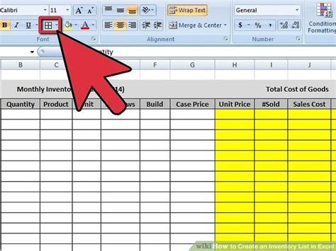 4 Ways To Create An Inventory List In Excel Wikihow How Do You Make A Template