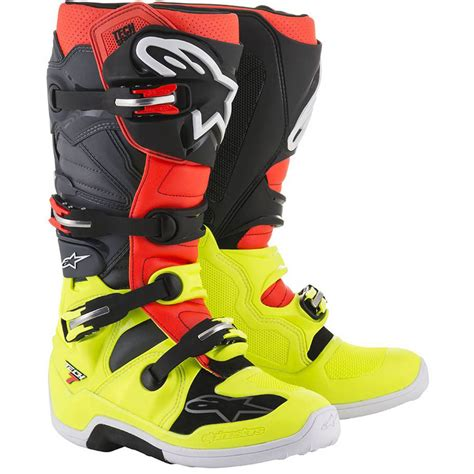 alpine motocross boots alpinestars 2018 tech 7 fluro black boots at mxstore