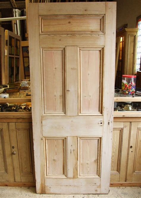 Salvage Front Doors Salvaged Front Door 5 Solid Panels Stained