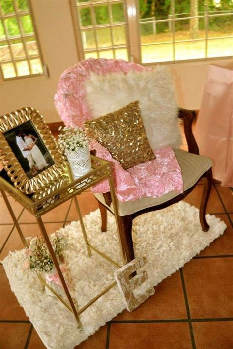 baby shower bench chair pink and gold baby shower baby shower ideas gold