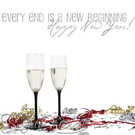 beginnings wall quote  years eve party decor motivational quotes  year