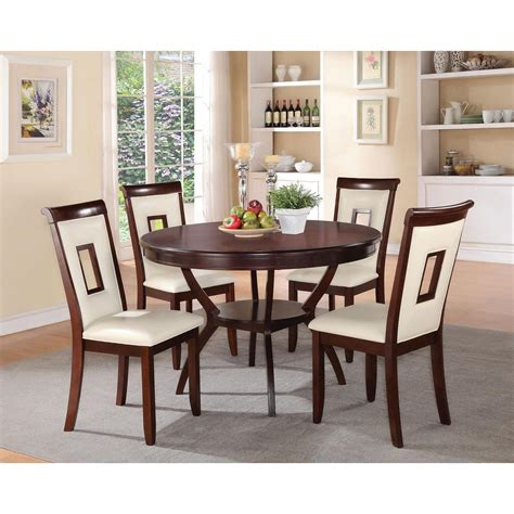Cherry Kitchen Table by Acme Oswell Cherry Built In Storage Dining Table 71600