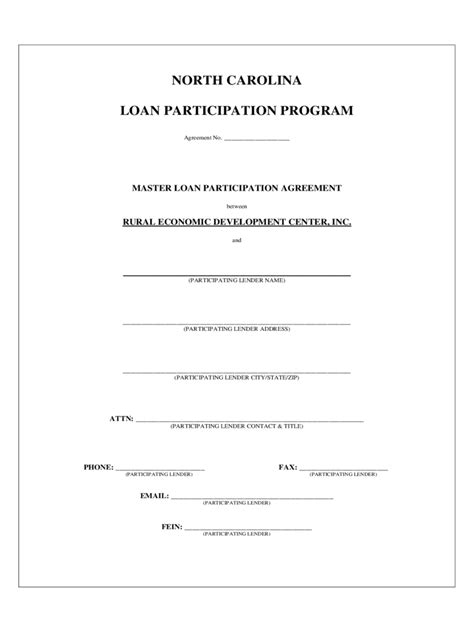 participation agreement template loan participation agreement form 2 free templates in