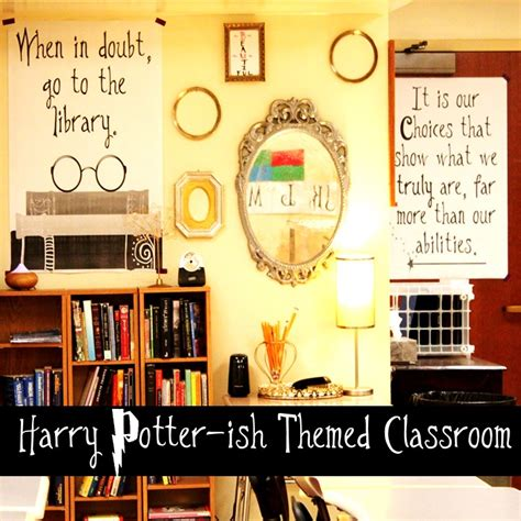 literature themes for high school b s book love harry potter ish themed classroom