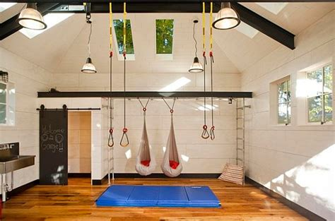 garage remodel to gym and living spaces ideas with white garage makeover tips furnish burnish