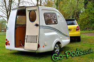 2 Berth Caravan Awning Go Pods Co Uk Rear View Teardrop Caravan Micro Caravan