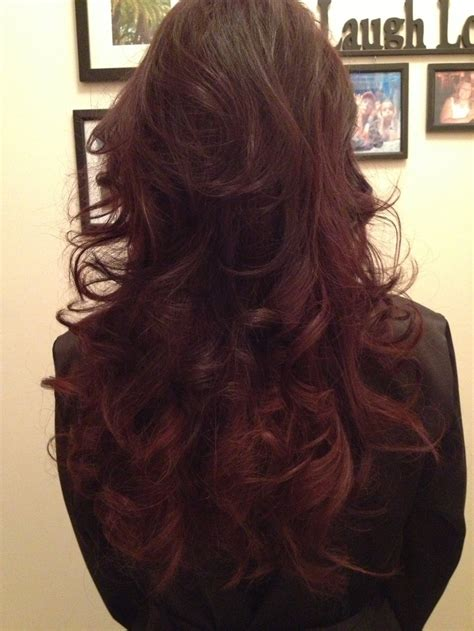 burgundy brown hair color pictures 66 best burgundy or red hair images on pinterest red