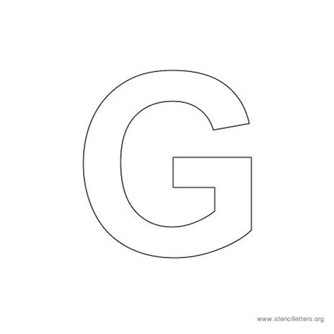 letter g template arial stencil letters uppercase stencil letters org