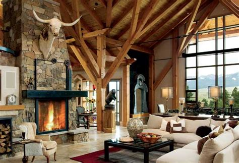 ranch style homes interior mountain log homes archives mywoodhome com