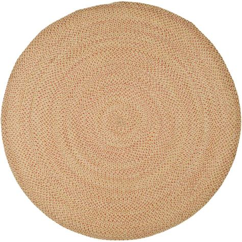 6ft Circular Rugs by Safavieh Braided Multi 6 Ft X 6 Ft Area Rug