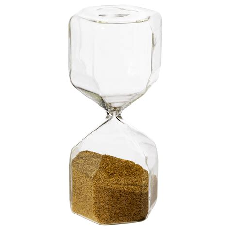 Decorative Hourglass by Tillsyn Decorative Hourglass Clear Glass 16 Cm