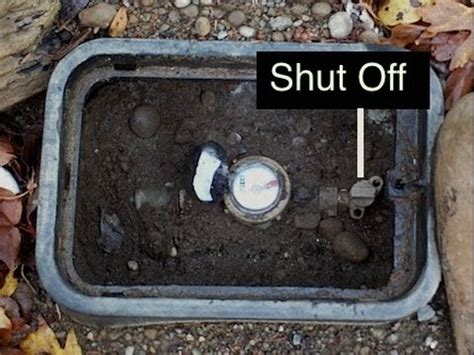 turn water off to house how to turn your water off outside if you have a water